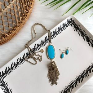 Kendra Scott Danelle Turquoise NecklaceEarring Set